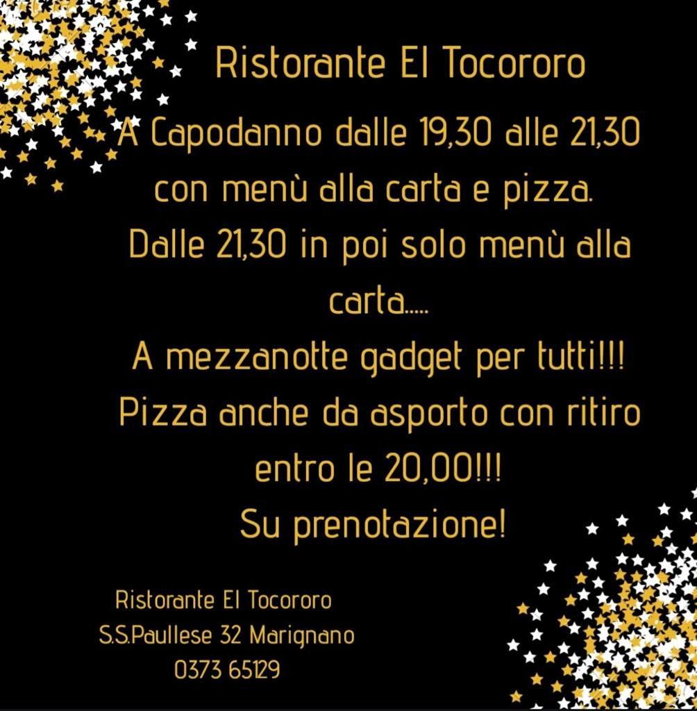 Ristorante El Tocororo - capodanno 2019